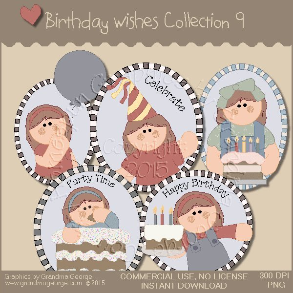 Birthday Wishes Country Graphics Collection Vol. 9