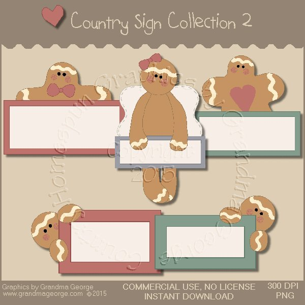 Country Sign Graphics Collection Vol. 2