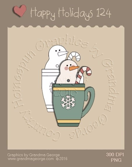 Happy Holidays Christmas Single Country Graphic 124