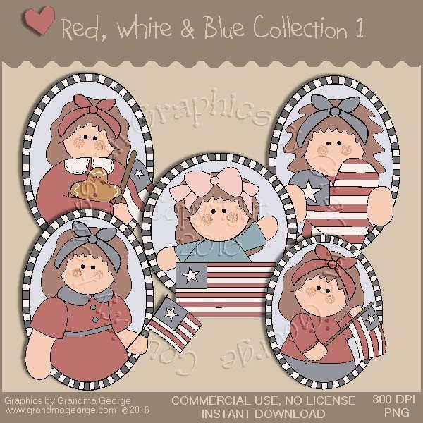 Red, White & Blue Country Graphics Collection Vol. 1