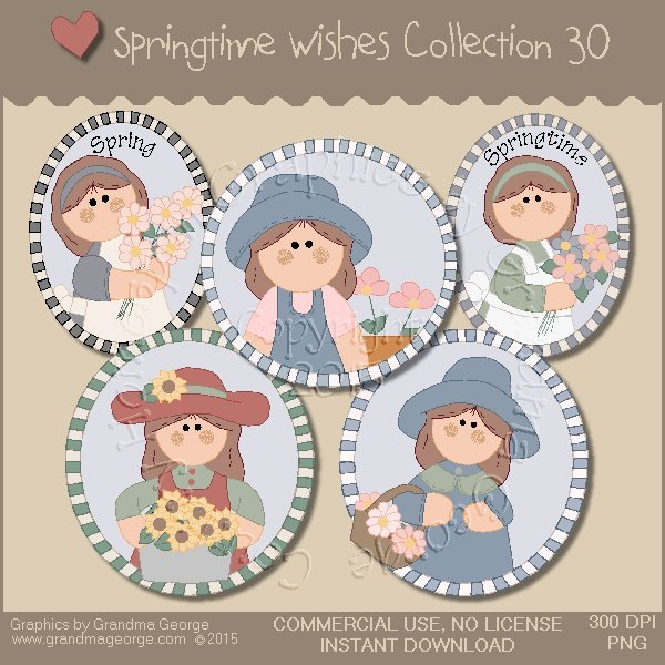 Country Springtime Wishes Graphics Collection Vol. 30