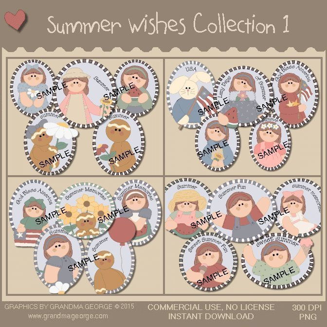 Summer Wishes Country Graphics Collection Vol. 1