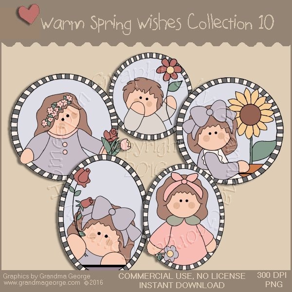 Warm Spring Wishes Country Graphics Collection Vol. 10