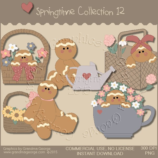 Country Springtime Graphics Collection Vol. 12