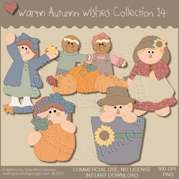 Warm Autumn Wishes Graphics Collection Vol. 14