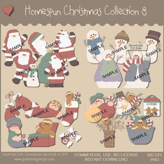 Homespun Christmas Collection Vol. 8