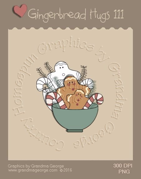 Gingerbread Hugs Single Country Graphic 111