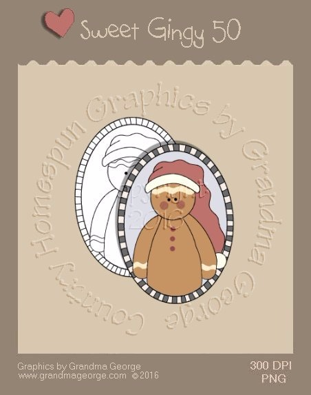 Sweet Gingy Single Country Graphic 50