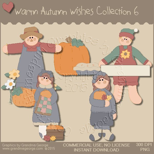 Warm Autumn Wishes Graphics Collection Vol. 6