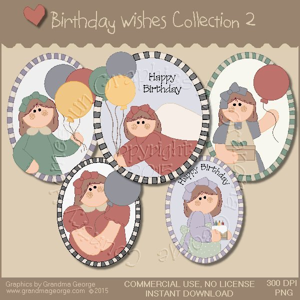 Birthday Wishes Country Graphics Collection Vol. 2