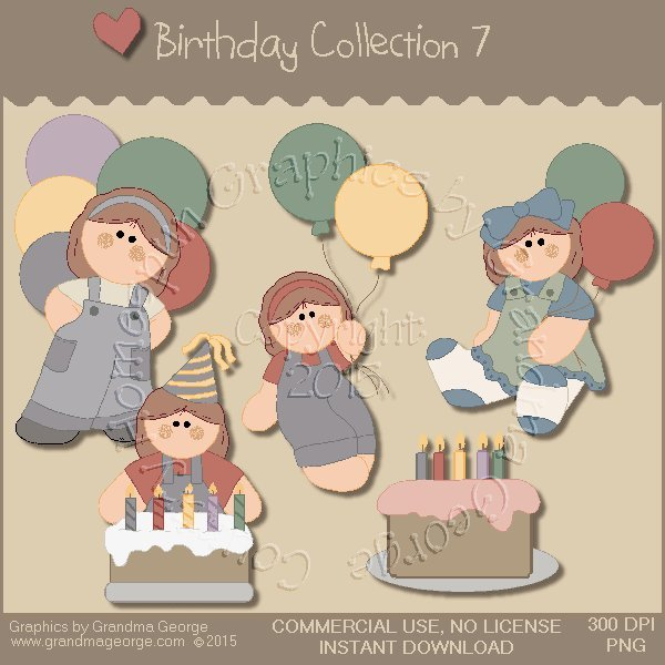 Birthday Graphics Collection Vol. 7