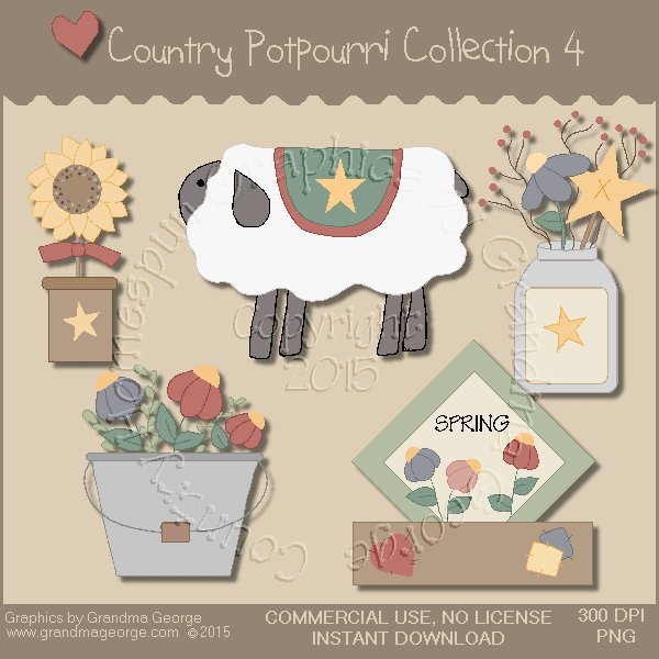 Country Potpourri Graphics Collection Vol. 4