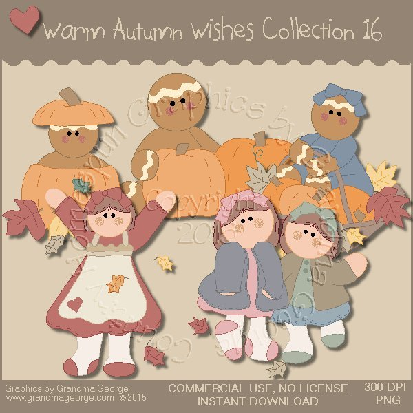 Warm Autumn Wishes Graphics Collection Vol. 16