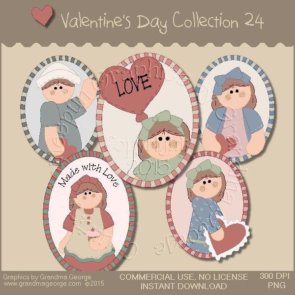 Valentine's Day Graphics Collection Vol. 24