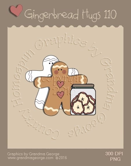 Gingerbread Hugs Single Country Graphic 110