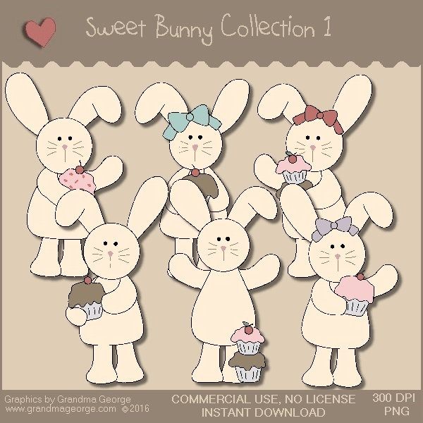 Sweet Bunny Country Graphics Collection Vol. 1