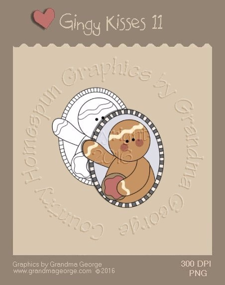 Gingy Kisses Single Country Graphic 11