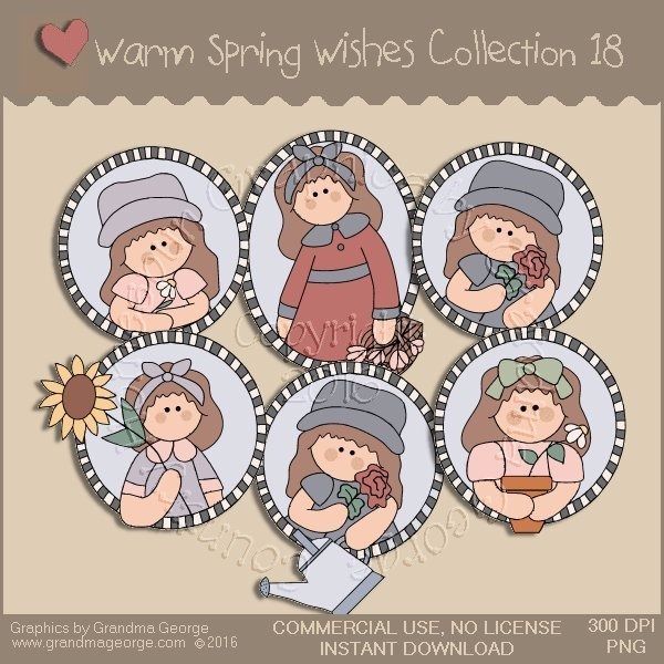 Warm Spring Wishes Country Graphics Collection Vol. 18
