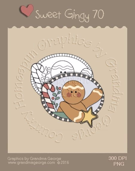 Sweet Gingy Single Country Graphic 70