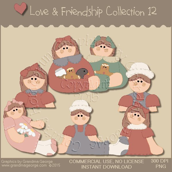 Love & Friendship Graphics Collection Vol. 12