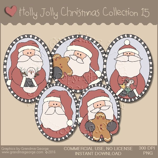 Holly Jolly Christmas Country Graphics Collection Vol. 15