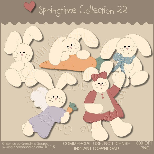 Country Springtime Graphics Collection Vol. 22