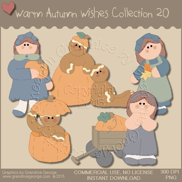 Warm Autumn Wishes Graphics Collection Vol. 20