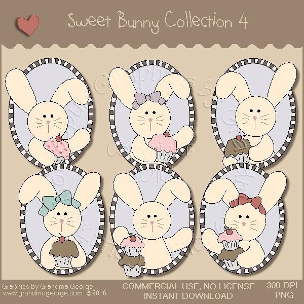 Sweet Bunny Country Graphics Collection Vol. 4