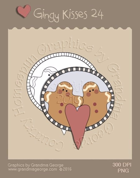 Gingy Kisses Single Country Graphic 24