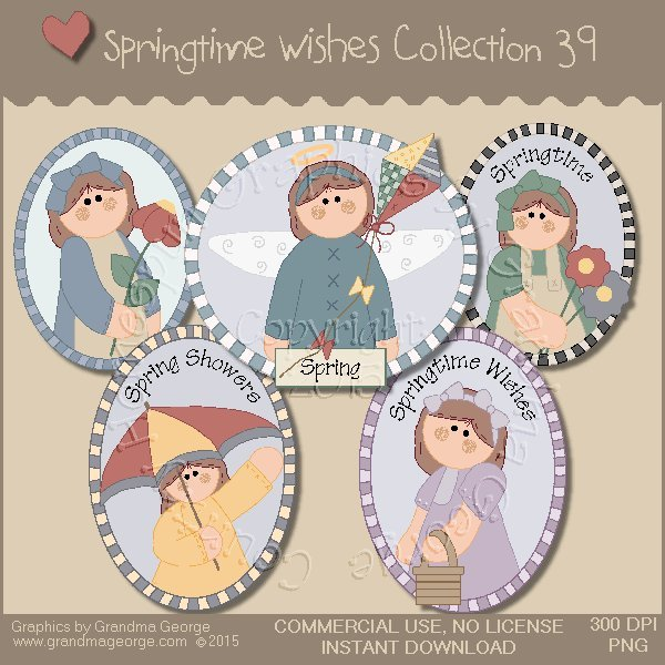 Country Springtime Wishes Graphics Collection Vol. 39