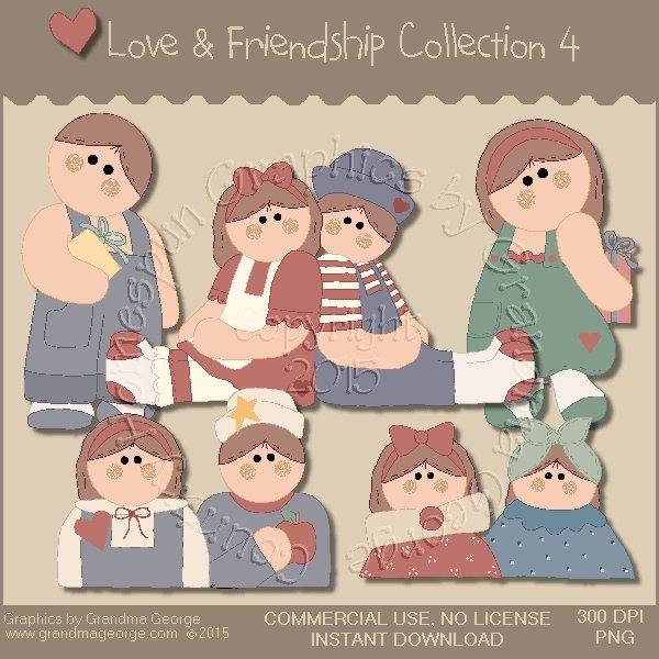 Love & Friendship Graphics Collection Vol. 4