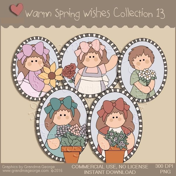 Warm Spring Wishes Country Graphics Collection Vol. 13