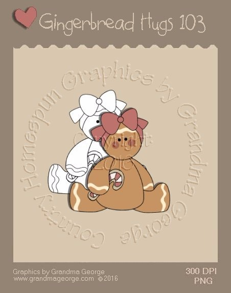 Gingerbread Hugs Single Country Graphic 103