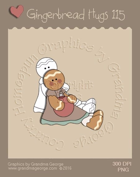 Gingerbread Hugs Single Country Graphic 115