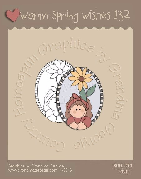 Warm Spring Wishes Single Country Graphic 132
