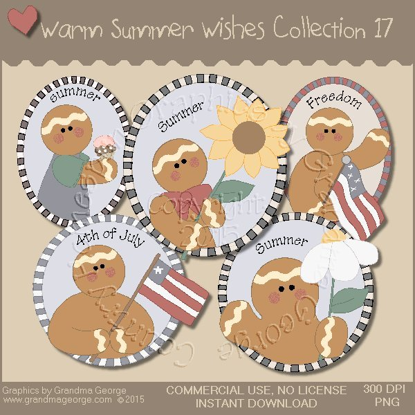 Warm Summer Wishes Graphics Collection Vol. 17