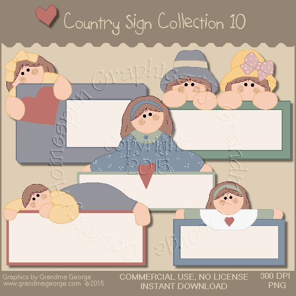 Country Sign Graphics Collection Vol. 10