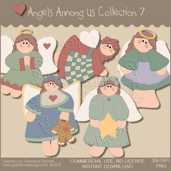 Angels Among Us Graphics Collection Vol. 7