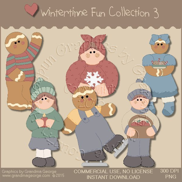 Wintertime Fun Graphics Collection Vol. 3
