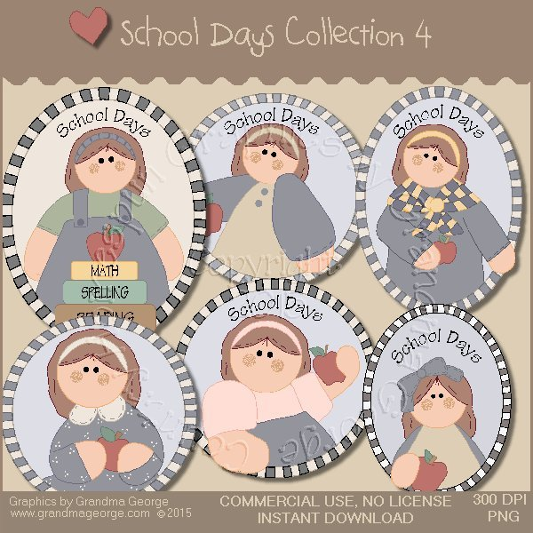 School Days Country Graphics Collection Vol. 4