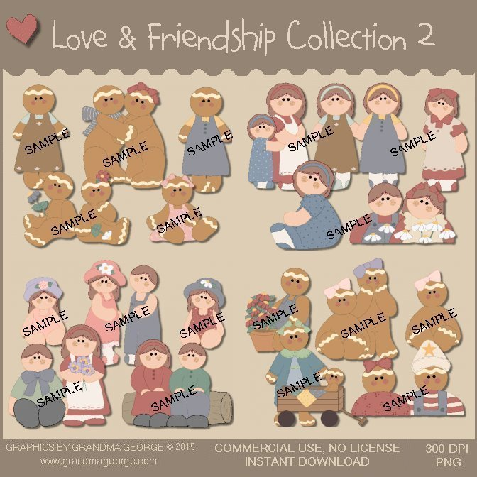 Love & Friendship Country Graphics Collection Vol. 2