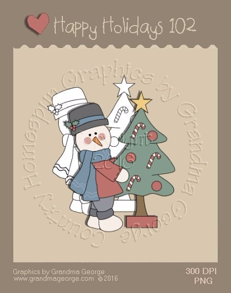 Happy Holidays Christmas Single Country Graphic 102