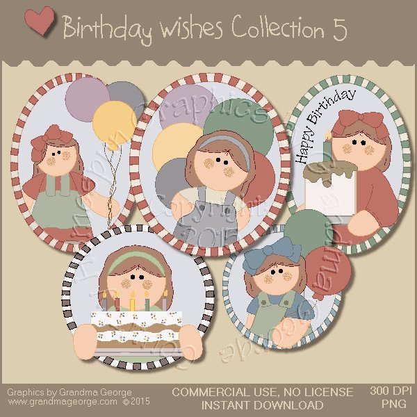 Birthday Wishes Country Graphics Collection Vol. 5