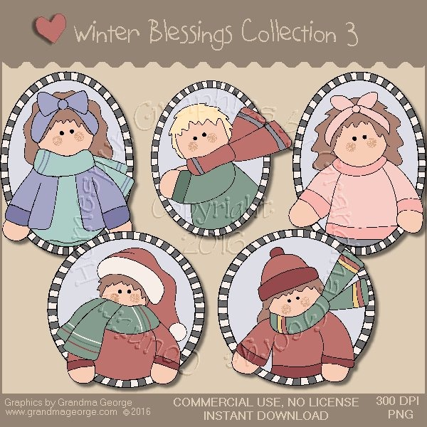 Winter Blessings Country Graphics Collection Vol. 3