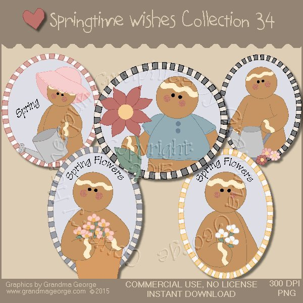 Country Springtime Wishes Graphics Collection Vol. 34