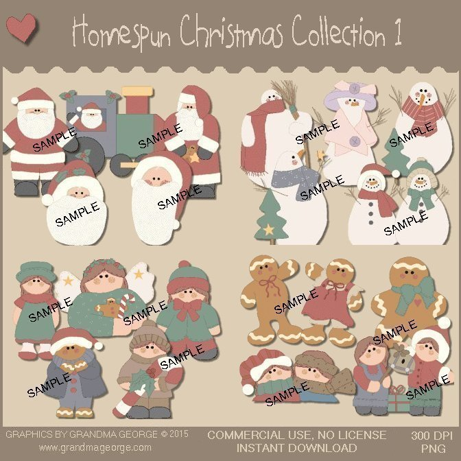 Homespun Christmas Collection Vol. 1