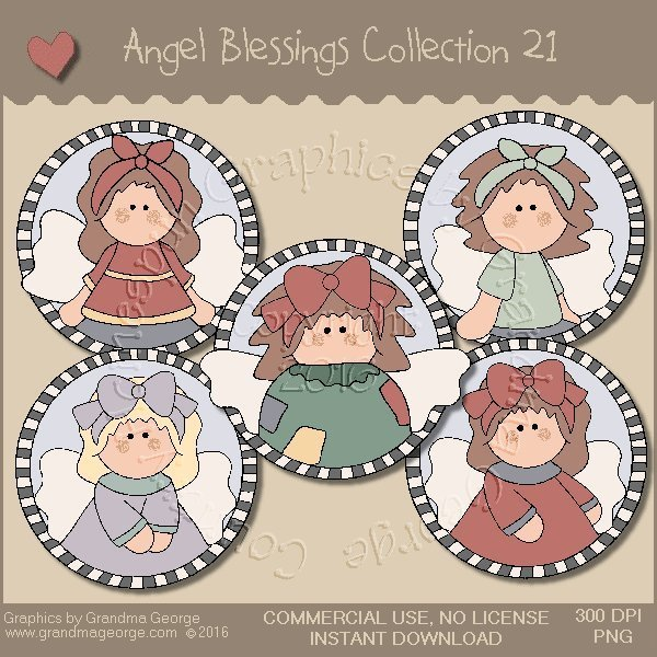 Angel Blessings Country Graphics Collection Vol. 21