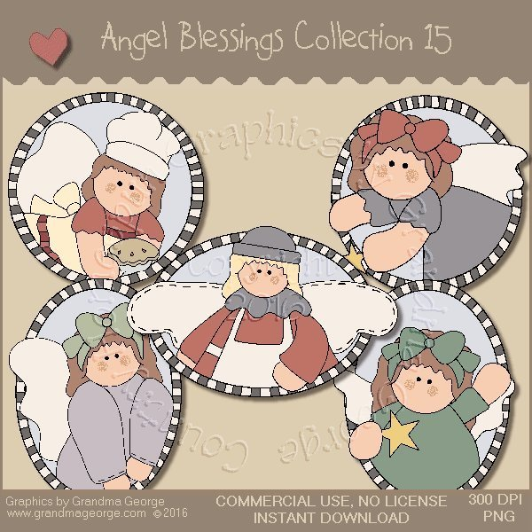 Angel Blessings Country Graphics Collection Vol. 15