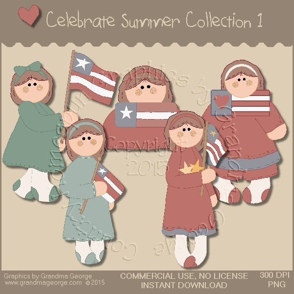 Celebrate Summer Country Graphics Collection Vol. 1