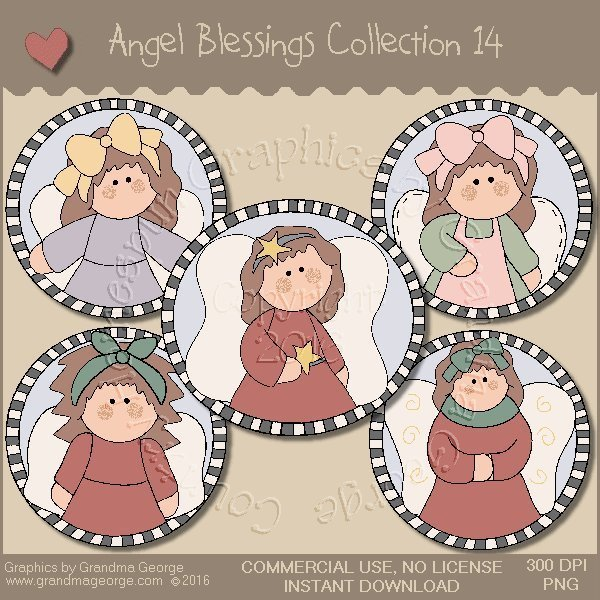 Angel Blessings Country Graphics Collection Vol. 14